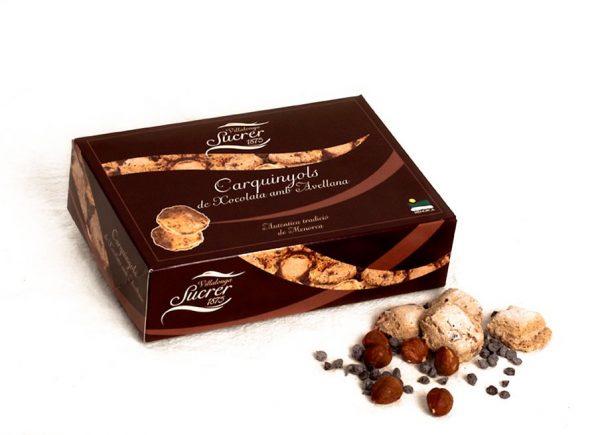 Carquinyols de Chocolate con Avellanas de Menorca
