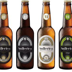 Cerveza Sullerica, lote de 4